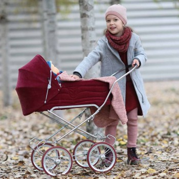 Schicker warmer Kindermantel in grau