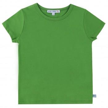 Grünes Shirt kurzarm uni Basic