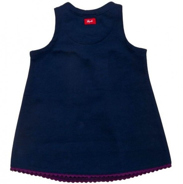 Öko Babykleid aus warmen Sweat mit Stickerei