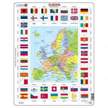 Lernpuzzle Europa Karte für Kinder ab 6 Jahre