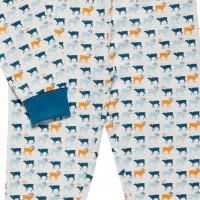 Vorschau: Jungen Bio Schlafanzug mit Arm- und Fussbündchen - Rentiere