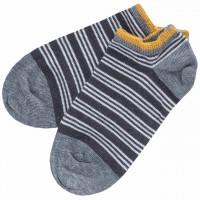 Kinder Sneaker Socken geringelt anthrazit