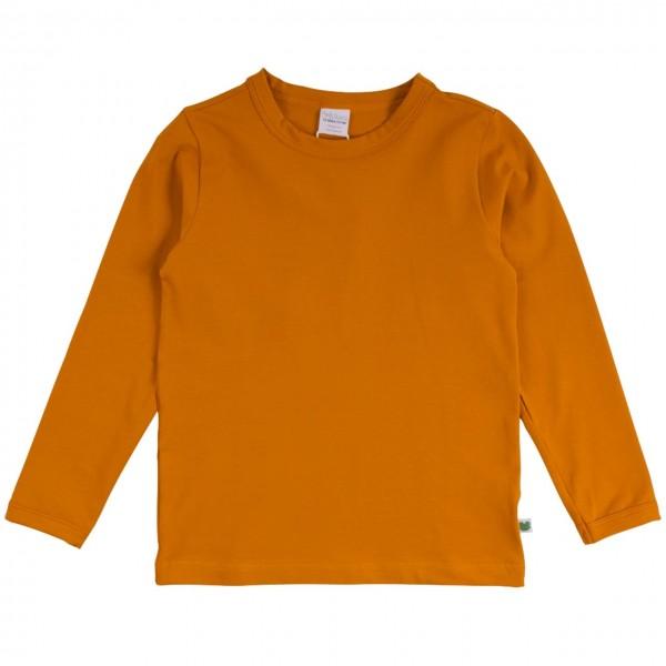 Dehnbares Basic Langarmshirt in rost