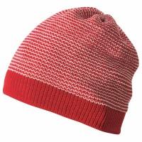 Vorschau: Beanie normal weich warm atmungsaktiv rot