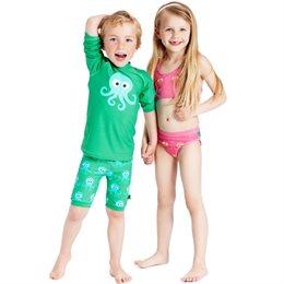 Shorts Kinder Badehose mit breitem Bund - grün