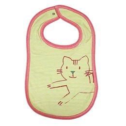 Wendelätzchen Katze grün geringelt