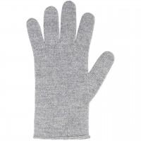 Damen Fingerhandschuhe Wolle Kaschmir grau