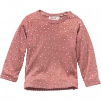 Langarmshirt mit kleinen Beeren rosa