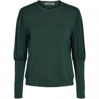 Lockeres Damen Langarmshirt dunkelgrün