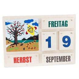 Kalender aus Holz Jahreszeiten und Datum