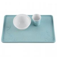 Tischset Naturkautschuk mit Saugnäpfen - Blau