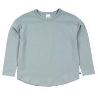 Lockeres Basic Langarmshirt in hellblau