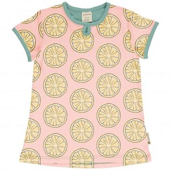 Zitronen T-Shirt A-Schnitt hellrosa