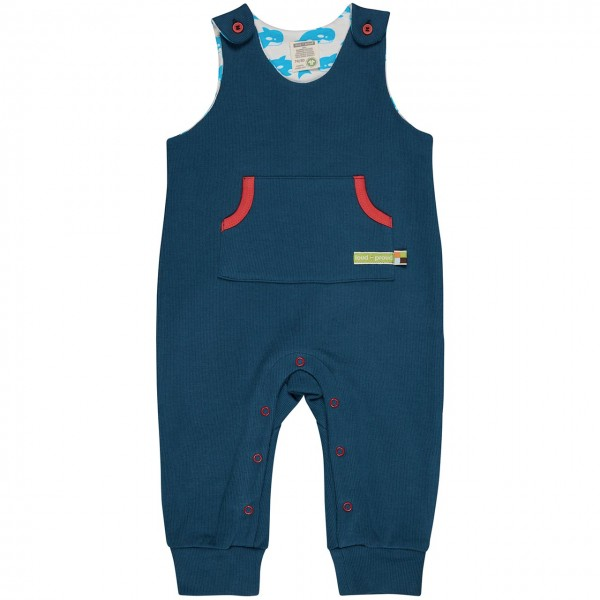 Babystrampler ohne Arm in dunkelblau uni