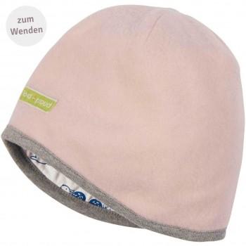 Wendemütze Wollfleece in rosa