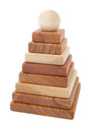 10-tlg Pyramiden Steckspiel mit natürlichen Ölen behandelt