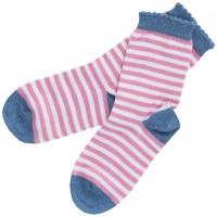 Kinder Socken geringelt rosa