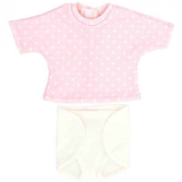 Puppenkleidung: Windelhose und T-Shirt (rosa)