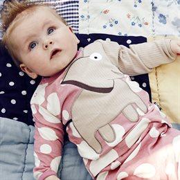 Arm mit Elefant Langarmshirt rosa Punkte