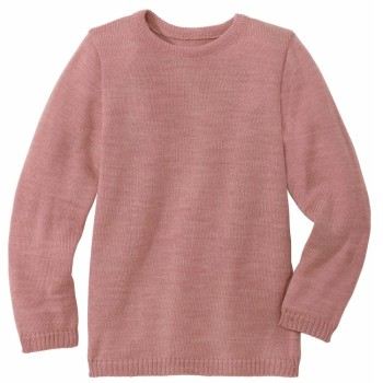 Leichter rosa Pullover Wolle
