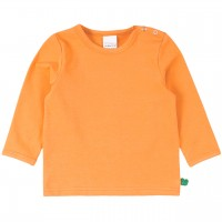 Dehnbares Basic Langarmshirt in hellem orange