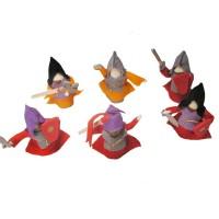 6 Ritter Holzpuppen zum Biegen rot