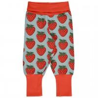 Mitwachsende Krabbelhose Bündchen Erdbeeren