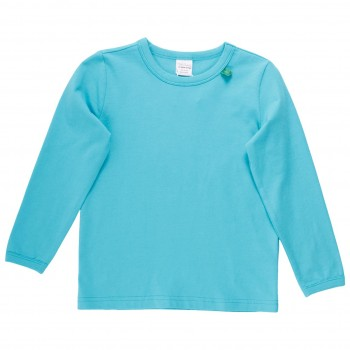 Basic Langarmshirt in hellblau