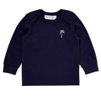 Vorschau: Baby Langarmshirt mit soften Armbündchen navy