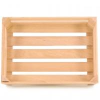 Holz Obstkiste für Kaufladen, groß natur 18 x 12,5 x 5,7 cm