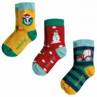 Schneemann Socken Kinder Bio 3er Pack