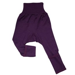 Mitwachsende Wolle Seide Hose lila Kratzschutz