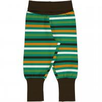 Robuste Babyhose im Streifen-Design Grün-/Gelbtöne