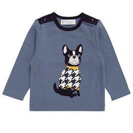 Robustes Babyshirt 4 Knöpfe Aufnäher Hund