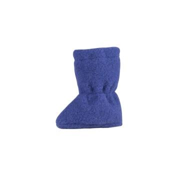 Schurwolle Babyschuhe als Socke in marine
