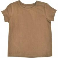Mädchen T-Shirt Pointelle in haselnuss-braun