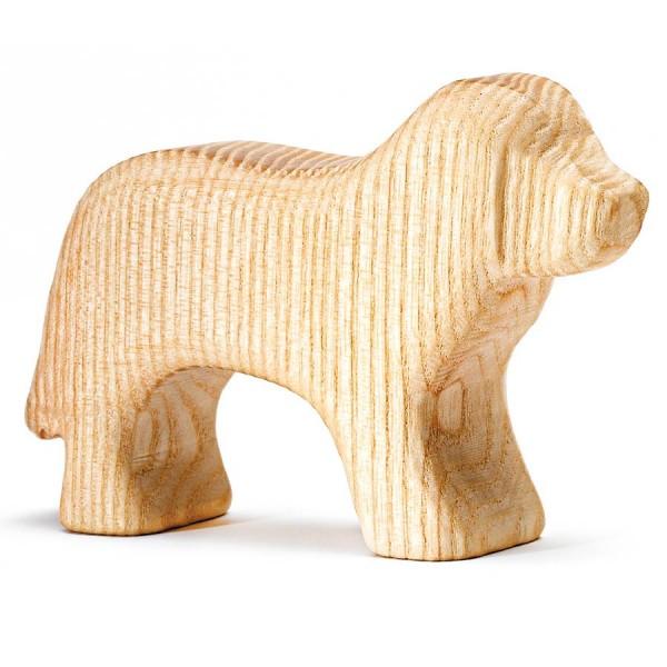 Hund Holztier unbehandelt 7 cm hoch