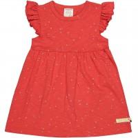 Leichtes Sommerkleid Flügelärmelchen in rot