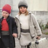 Bio Walk Kinderjacke Outdoor gefüttert Reflektoren grau