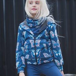 Jacke mit Zipper Schmetterling dunkelblau