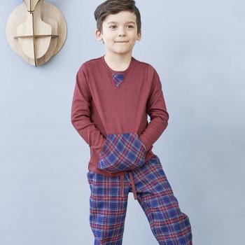 Weicher Flanell Schlafanzug mit Taschen