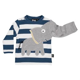 Klasse Baby Elefanten Shirt -langarm blau gestreift