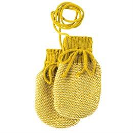 Neugeborenen Strick Handschuhe Schurwolle senf