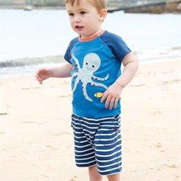 Robuste Jungen Shorts gestreift marine