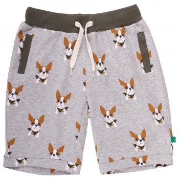 Leichte Jersey Hunde Shorts grau