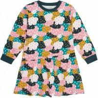 Kleid langarm Wolken in navy-rosa