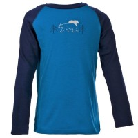 Modernes Langarmshirt für Jungen - kühle Tage blau