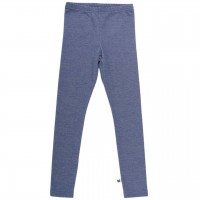 Dehnbare Denim Jersey Leggings in blau