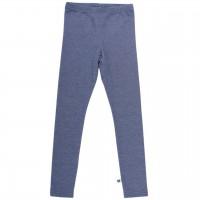 Dehnbare Denim Jersey Leggings in blau