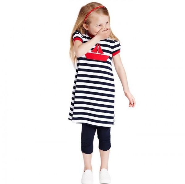 Kinderkleid Küstenstil Maritim  greenstories